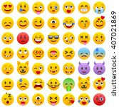 set of emoticons. set of emoji. ... | Shutterstock .eps vector #407021869