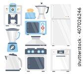 kitchen appliances set. coffee... | Shutterstock .eps vector #407026246