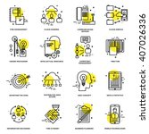 thin line icons set. business...   Shutterstock .eps vector #407026336
