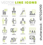thin line icons set. business... | Shutterstock .eps vector #407026900