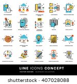 thin line icons set. business... | Shutterstock .eps vector #407028088