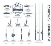 set for the fisherman. hooks ...   Shutterstock .eps vector #407028523