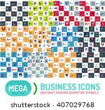 logo mega collection. abstract... | Shutterstock .eps vector #407029768