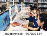 education school student...   Shutterstock . vector #407031889