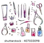 vector image set of tools for...