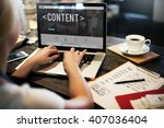 Small photo of Content Data Blogging Media Publication Concept