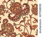 floral pattern flourish tiled...