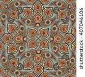 floral pattern flourish tiled... | Shutterstock .eps vector #407046106