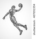 abstract  basketball  athlete | Shutterstock . vector #407051554
