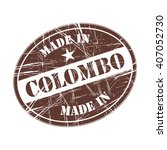 made in colombo rubber stamp   Shutterstock .eps vector #407052730