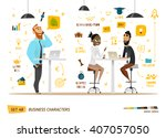 business characters collection | Shutterstock .eps vector #407057050