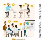business characters collection | Shutterstock .eps vector #407057053