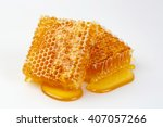 bee products with fresh... | Shutterstock . vector #407057266