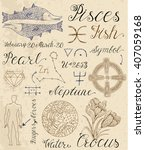 collection of hand drawn... | Shutterstock .eps vector #407059168