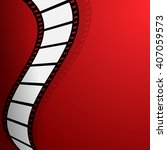 film on the red background | Shutterstock .eps vector #407059573