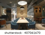 interior of an empty restaurant ... | Shutterstock . vector #407061670
