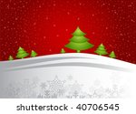 christmas trees | Shutterstock .eps vector #40706545