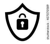 save lock black simple icon | Shutterstock .eps vector #407070589