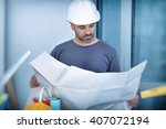 portrait of an architect... | Shutterstock . vector #407072194