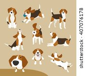 the various operations of cute... | Shutterstock .eps vector #407076178