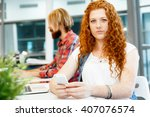 business woman in office | Shutterstock . vector #407076574