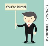 "business concept  boss holding ""... | Shutterstock .eps vector #407076748"