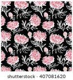 hand drawn seamless pattern.... | Shutterstock .eps vector #407081620