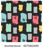 hand drawn pattern. vector... | Shutterstock .eps vector #407082400