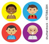 cartoon boy four people. | Shutterstock .eps vector #407086384