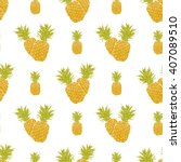 fruit background seamless... | Shutterstock . vector #407089510