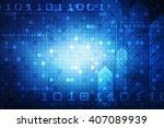 digital abstract business... | Shutterstock . vector #407089939