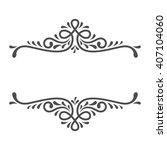 motif vintage logo vector. | Shutterstock .eps vector #407104060