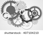 grey tech abstract gears... | Shutterstock .eps vector #407104210