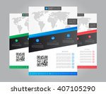 flyer  leaflet  layout vector... | Shutterstock .eps vector #407105290