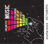 unlimited music streaming... | Shutterstock .eps vector #407108593