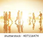 business people commuter... | Shutterstock . vector #407116474