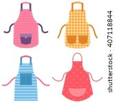 colorful apron set | Shutterstock .eps vector #407118844