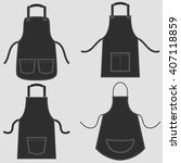 black apron set   Shutterstock .eps vector #407118859