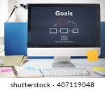 goals aim aspiration believe... | Shutterstock . vector #407119048