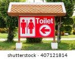 Restroom Or Toilet Sign Board...