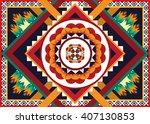 geometric ethnic oriental... | Shutterstock .eps vector #407130853