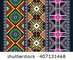 geometric ethnic oriental... | Shutterstock .eps vector #407131468