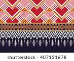 geometric ethnic oriental... | Shutterstock .eps vector #407131678