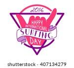 summer surfing day tattoo... | Shutterstock .eps vector #407134279