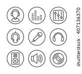 music icons set. dj icon. | Shutterstock .eps vector #407136370