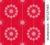 vector seamless circle pattern. ... | Shutterstock .eps vector #407137483