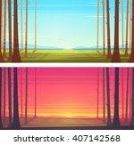 forest landscape. vector... | Shutterstock .eps vector #407142568