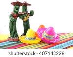 cinco de mayo mariachi band... | Shutterstock . vector #407143228
