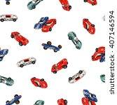 racing car pattern | Shutterstock . vector #407146594