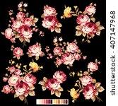 rose flower illustration  | Shutterstock .eps vector #407147968